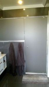 Evolution semi frameless shower screen